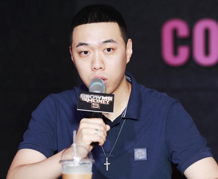힙합 경연 프로그램'쇼 미 더 머니5'에서 우승한 비와이.
