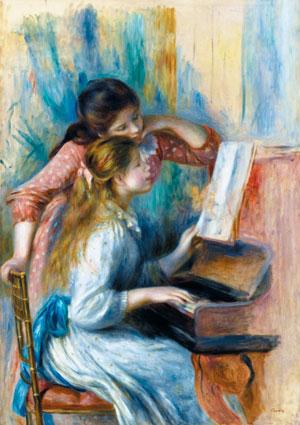르누아르가 1892년 그린 '피아노 앞 소녀들'.