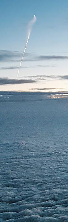 천안 상공에서 찍힌 北 SLBM 추정 물체