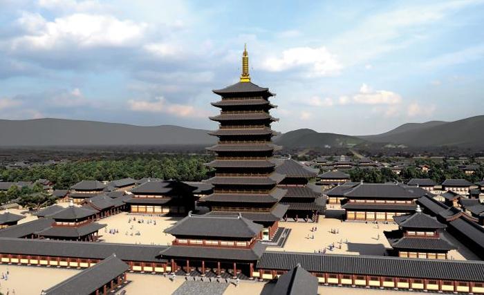 지난 2014년 경북도가 만든 황룡사 9층 목탑 등 주요 건물 복원 조감도