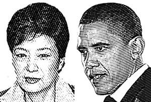 박근혜 대통령(왼쪽), 버락 오바마 미국 대통령.