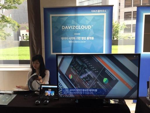 '스마트클라우드쇼 2016'에서 전시중인 N3N의 다비즈 클라우드. / 이다비 기자