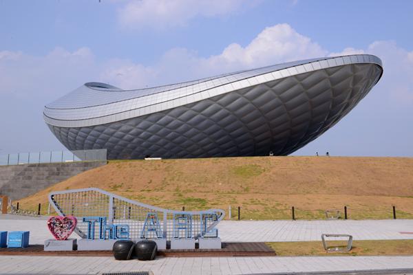 낙동강과 금호강 사이 독특한 모습의 전시 공간인 '디 아크'