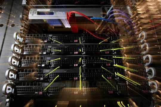 IBM 클라우드 센터 내부 모습./사진=블룸버그