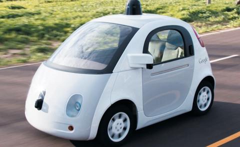 구글이 지난 2014년 12월 공개한 '자율주행차' 시제품. 내부에 운전대와 가속·브레이크 페달이 없다.
