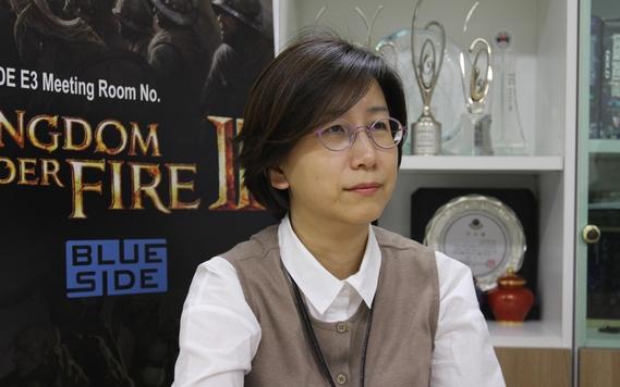 김세정 블루사이드 대표이사는 12월 킹덤언더파이어2를 중국에 정식 출시를 앞두고 자신감을 보였다. /블루사이드 제공