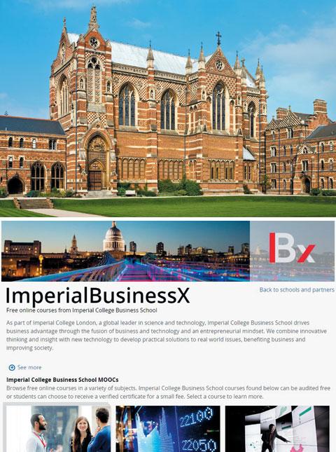 내년 2월 인터넷 무료 강의를 개설할 예정인 영국 옥스퍼드대학교 전경(위 사진). 에덱스에 개설된 런던 임피리얼칼리지의 인터넷 무료 강의 신청 화면.