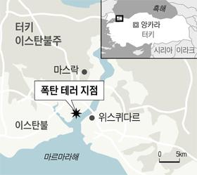 폭탄 테러 지점 위치 지도