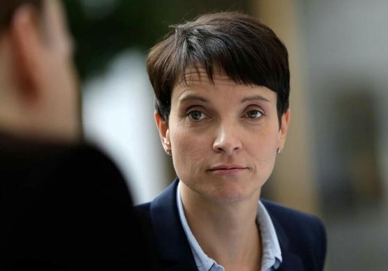 프라우케 페트리 독일을 위한 대안(AfD) 대표의 모습. 아돌피나(히틀러의 이름에서 딴 별명)라는 별명 답게 독일의 대표적인 포퓰리스트다. / 연합뉴스 제공