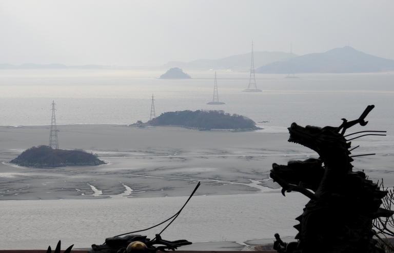 일몰 명소 석모도 보문사 마애불에서 바라본 갯벌 풍경