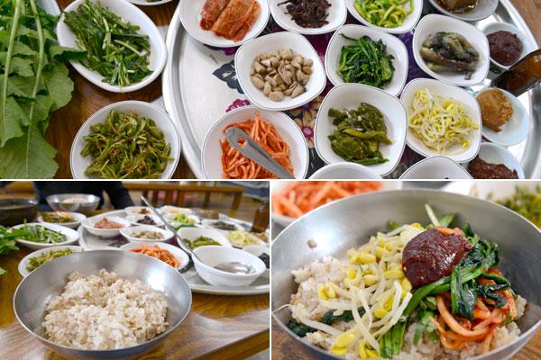광주 5미 중 하나인 무등산보리밥