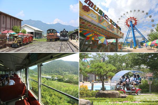 섬긴강 기차마을에서는 장미공원부터 구 곡성역, 드림랜드, 증기기관차 까지 다양한 체험을 할 수 있다.
