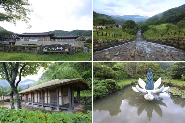 효녀 심청 이야기를 주제로 다양한 이야기 동상과 전통 한옥이 조성돼 있는 '심청 이야기마을'