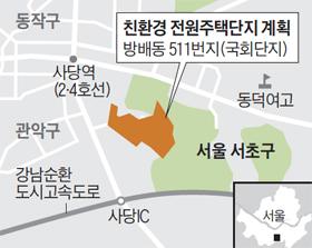 친환경 전원주택단지 계획 지도