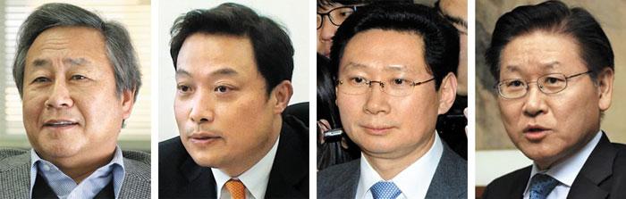 (왼쪽부터)김숙, 곽승준, 이상일, 김봉현.