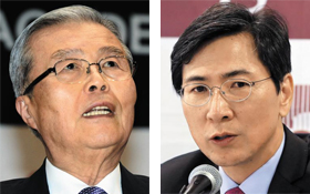 김종인 민주 의원, 안희정 충남지사