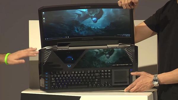 약 1000만원짜리 노트북 프레데터21X의 모습 /테크세이닷컴 캡처
