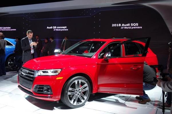 아우디의 SUV인 신형 SQ5도 세계 최초로 공개됐다./진상훈 기자