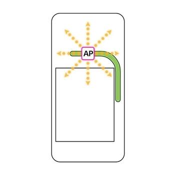 LG전자는 오는 2월 공개하는 전략 스마트폰 G6의 방열성능을 대폭 향상시키기 위해 '히트 파이프(Heat Pipe)'를 적용한다고 15일 밝혔다. 스마트폰 내 히트 파이프(녹색)와 방열설계를 통해 열(황색)이 분산되는  모습을 나타낸 방열구조 개념도./ LG전자 제공