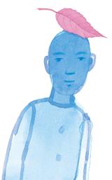 윤동주 시인의 시 '소년'에서 영감을 얻어 파랑의 이미지로 그려낸 그림책 '소년'의 한 장면.