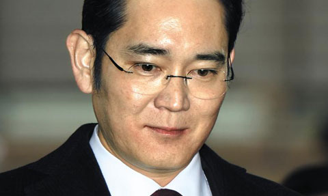 지난 12일 서울 박영수 특별검사 사무실에 출석한 이재용 삼성전자 부회장.