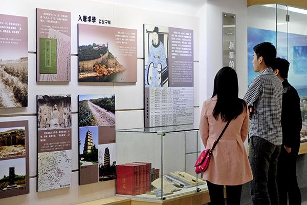 양저우에서 벼슬 생활을 지낸 신라 시대 학자 최치원의 기념관 내부