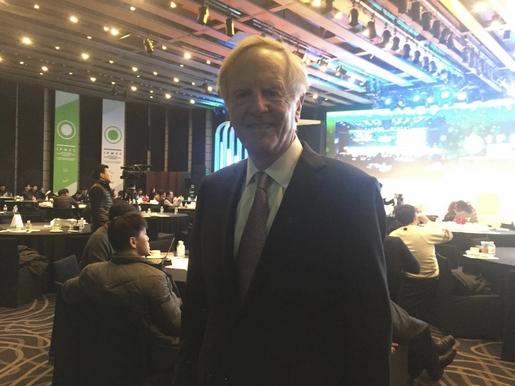 19일 IPMC 컨퍼런스에 참가한 존 스컬리(John Sculley) 전 애플 최고경영자(CEO) /김민지 인턴기자