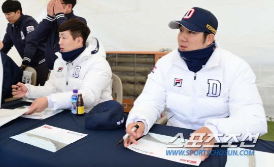 두산 박건우 장원준, 처남&매형 동시 국가대표