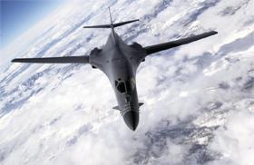 미국의 전략폭격기 B-1B.