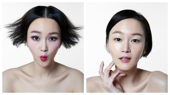 모델 이혜정의 ' 'LOVE YOUR FACE, MAKE UP YOUR MIND' 인스타그램 영상/사진=플레이노모어 제공