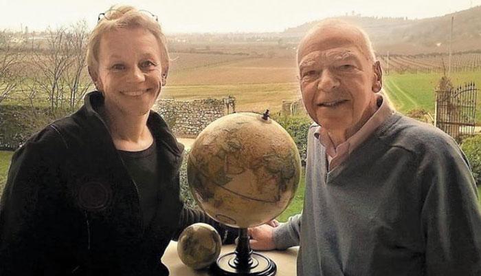 올리비에(오른쪽)와 플라테가 이탈리아 베로나에서 함께 찍은 사진