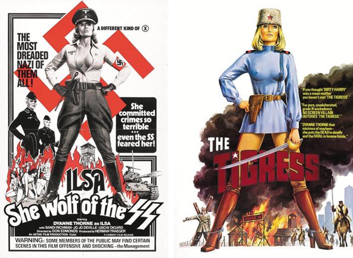 '일사, 나치스 친위대의 암늑대', '일사, 시베리아의 암호랑이' 영화 포스터