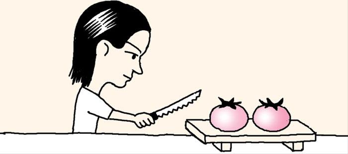 [리빙포인트] 탱탱한 토마토 자를 땐 빵칼로