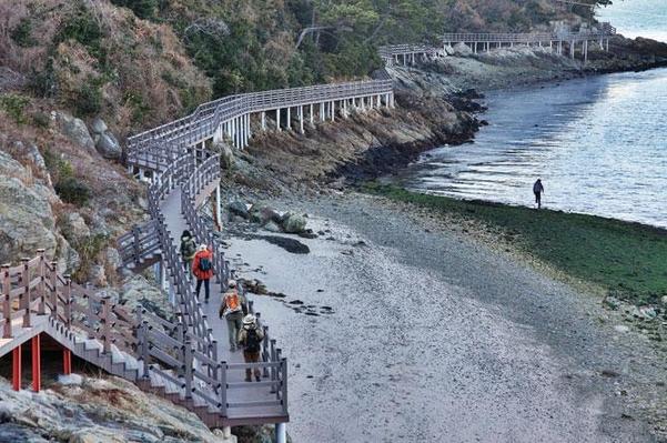 통영 만지도는 국립공원 14번째 명품마을로 지정됨에 따라 해안가를 따라 탐방로를 조성해 놓았다. / 조선일보DB