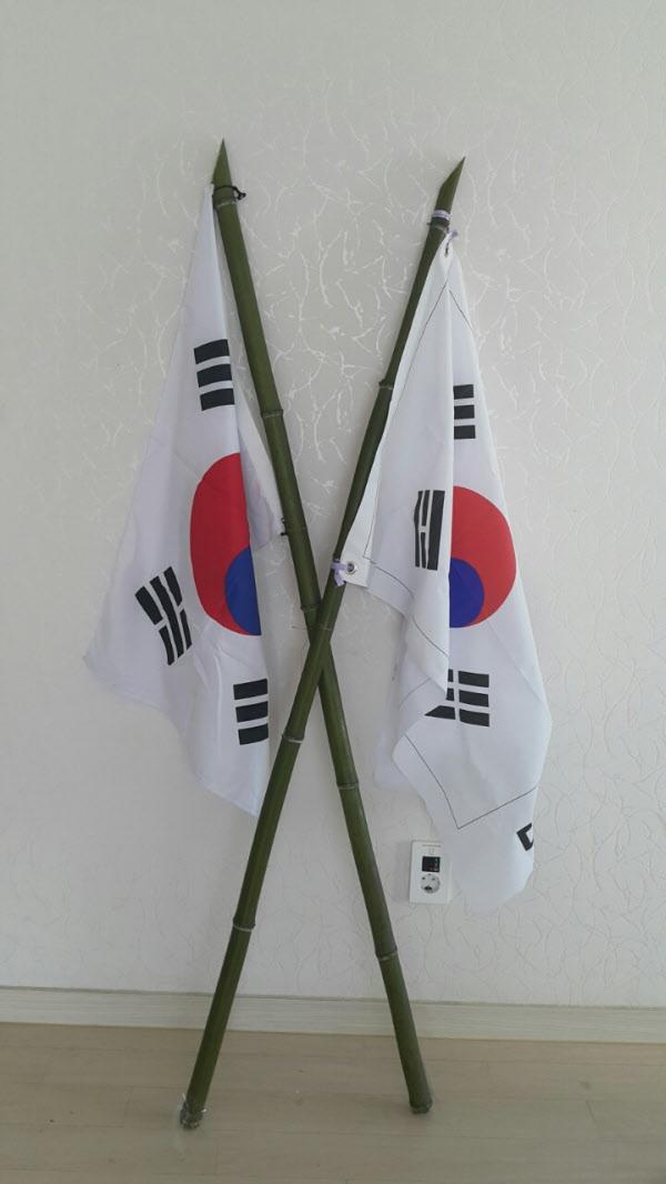 죽창 태극기 사진 온라인에…탄핵 인용시 행..