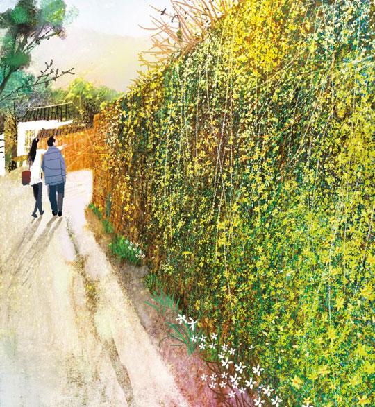 [김민철의 꽃이야기] 길상사에 찾아온 서울의 봄