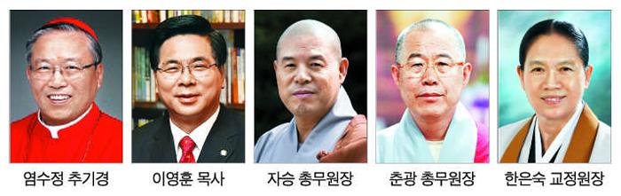 종교계 지도자들 사진