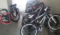 지난 10일 오전 세종시 기획재정부 자전거 주차장의 모습.