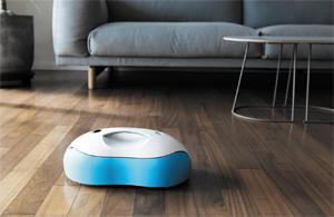 물걸레질해주는 로봇 청소기.