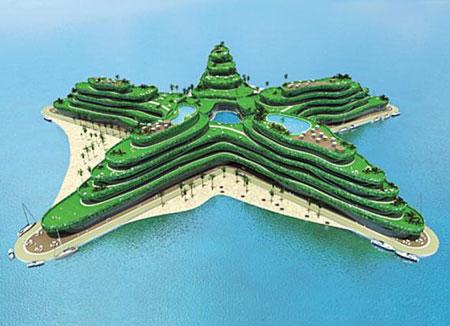 인공섬 가상도 몰디브 정부가 구상하고 있는 인공섬 가상도.