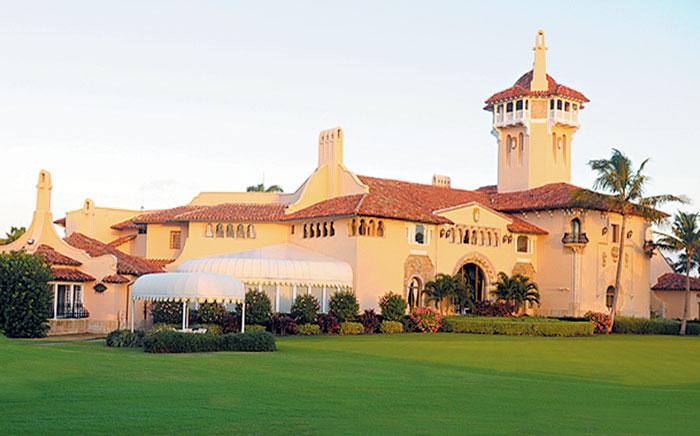 '겨울 백악관'이라고 불리는 미국 플로리다주(州) 팜비치에 있는 고급 휴양지'마라라고'리조트.