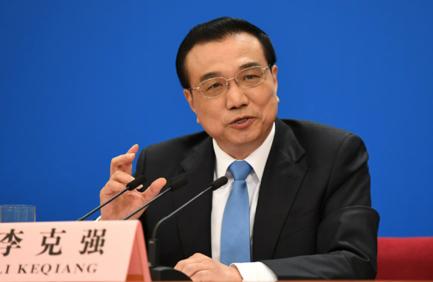 리커창 중국 총리가 15일 전인대 폐막후 기자회견에서 답변하고 있다. /중국 인대망
