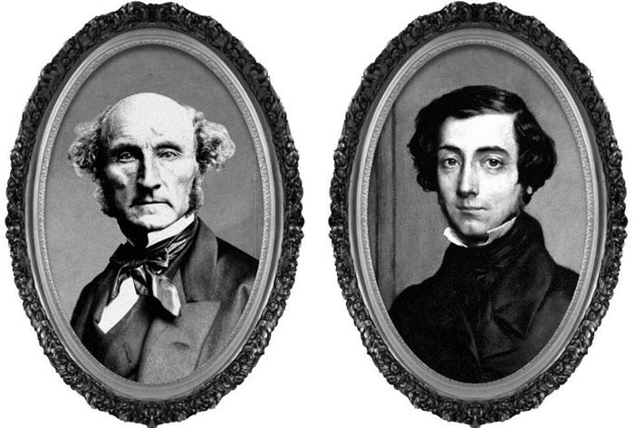 19세기 영국과 프랑스를 대표하는 정치사상가인 존 스튜어트 밀(왼쪽)과 알렉시 드 토크빌.
