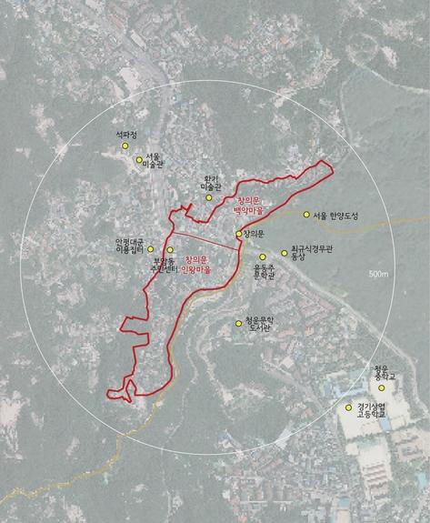 서울시 종로구 부암동 성곽마을 주거환경관리사업 위치도. /서울시 제공
