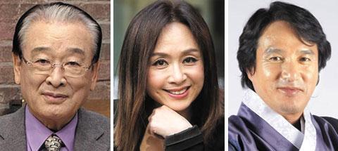 (왼쪽부터)이순재, 박해미, 조재현.