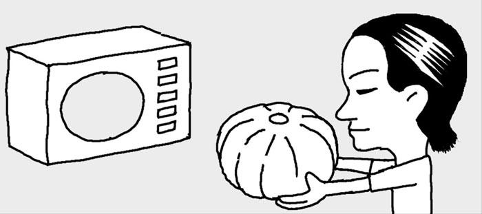[리빙포인트] 단호박 껍질 쉽게 벗기려면