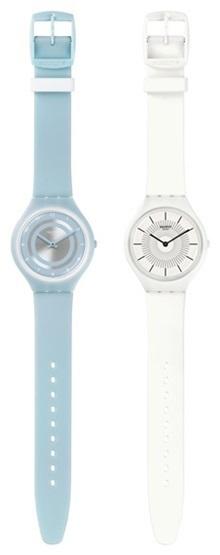 피부처럼 얇고 가벼우며 심플한 디자인에 경쾌한 컬러로 시선을 사로잡는 '스와치 스킨' 컬렉션.