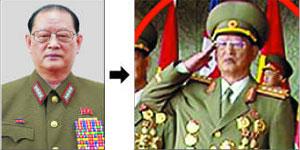 15일 등장한 김원홍(오른쪽) 전 국가안전보위상의 모습이 지난해 6월 국무위원회 위원에 임명됐을 때(왼쪽)에 비해 많이 수척해 보인다.