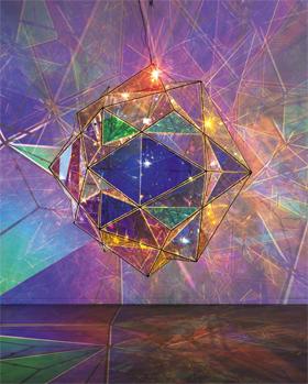 거대한 별을 닮은 올라퍼 엘리아슨의 신작 '태양의 중심 탐험'