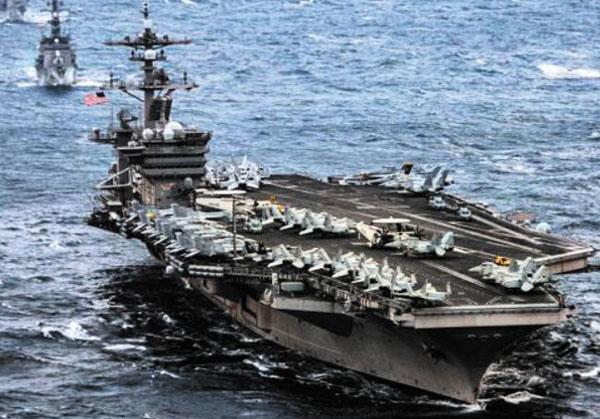25일 한반도 해역에 도착할 예정인 미국 항공모함 칼빈슨호.